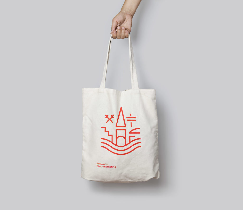 Schwerte Tote Bag Mockup Logo