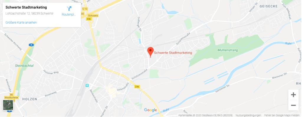 Anfahrt Schwerte Stadtmarketing Karte